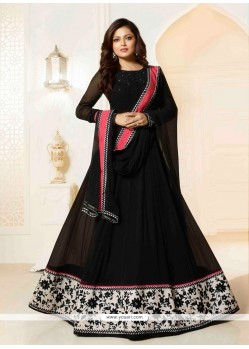 Cute Georgette Patch Border Work Designer Floor Length Suit