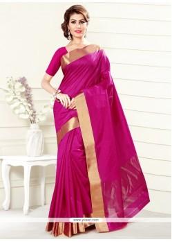 Preferable Hot Pink Art Silk Casual Saree