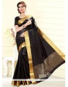 Fantastic Black Print Work Casual Saree