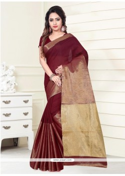 Blissful Art Silk Print Work Casual Saree