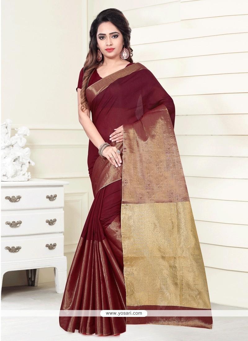 Blissful Art Silk Print Work Casual Saree