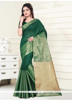Piquant Print Work Casual Saree