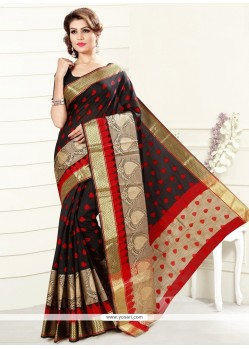 Attractive Art Silk Black Casual Saree