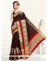 Attractive Art Silk Black Casual Saree