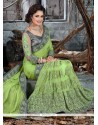 Compelling Faux Crepe Patch Border Work Designer Traditional Sarees