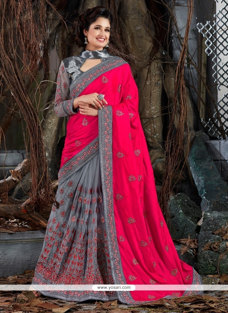 Trendy And Latest Contemporary Bathroom Designs: Buy Modern Art Silk Embroidered Work Trendy Saree