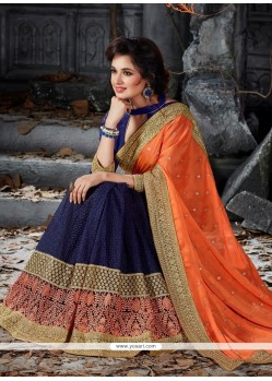 Aristocratic Patch Border Work Designer Saree