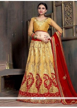 Congenial Net Patch Border Work Designer Lehenga Choli