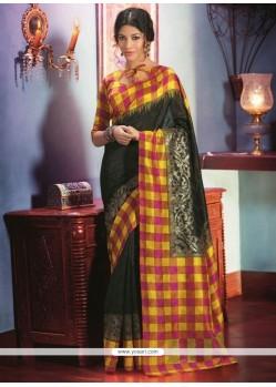 Dazzling Black Art Silk Saree