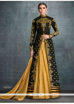 Festal Embroidered Work Black Designer Lehenga Choli