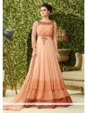Modern Peach Georgette Floor Length Anarkali Salwar Suit