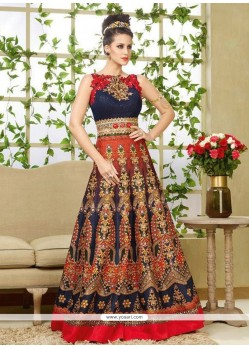 Remarkable Resham Work Floor Length Anarkali Salwar Suit