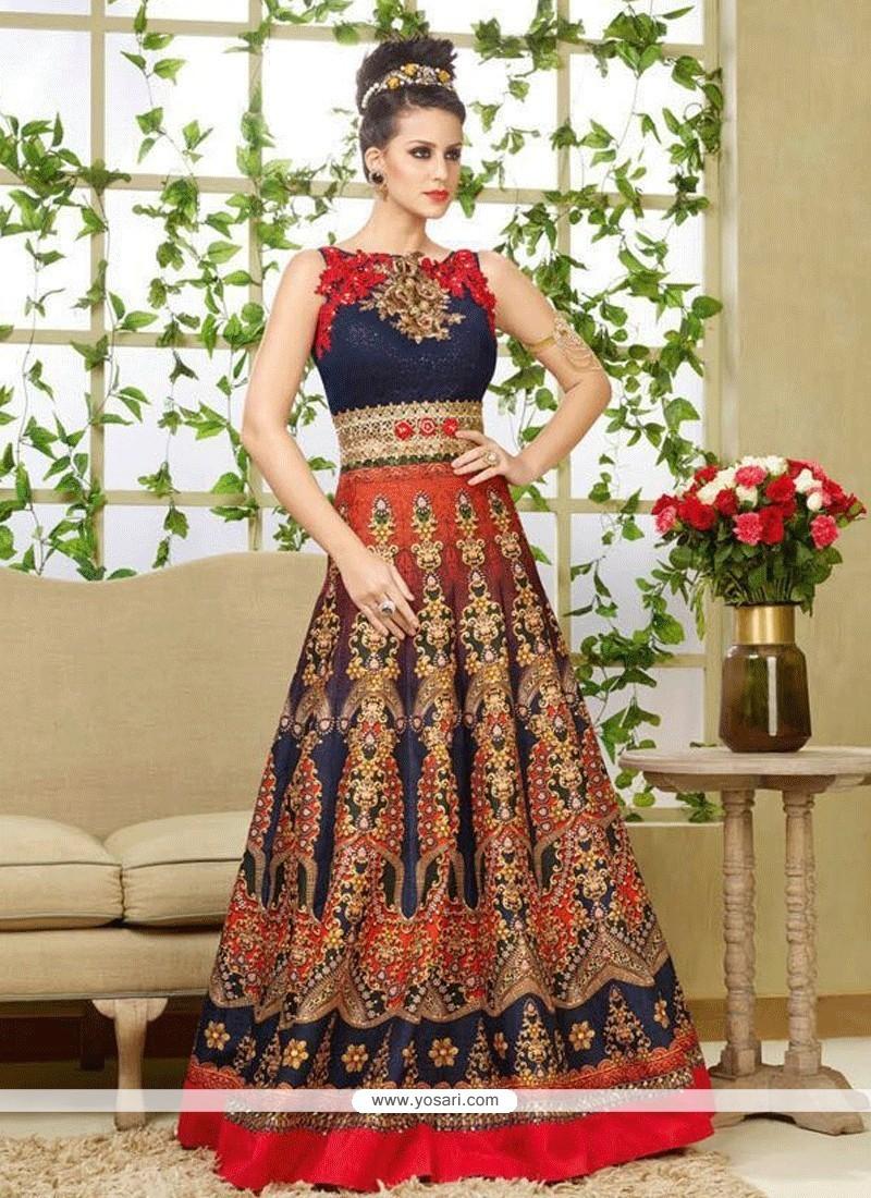 Remarkable Resham Work Floor Length Anarkali Salwar Suit