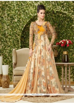 Sensational Embroidered Work Net Floor Length Anarkali Salwar Suit