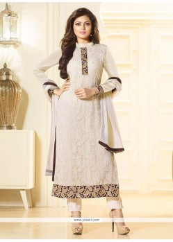 Transcendent Georgette Patch Border Work Churidar Designer Suit