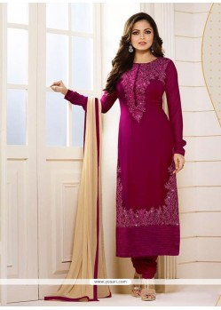 Lavish Georgette Embroidered Work Churidar Designer Suit