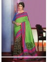 Charismatic Green Art Silk Saree