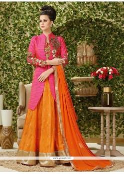 Whimsical Long Choli Lehenga For Wedding