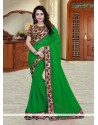 Spectacular Georgette Green Printed Saree