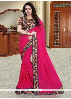 Charming Georgette Print Work Printed Saree