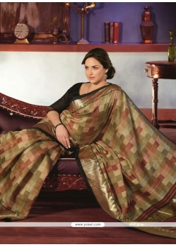 Captivating Mutlicolor Art Silk Saree