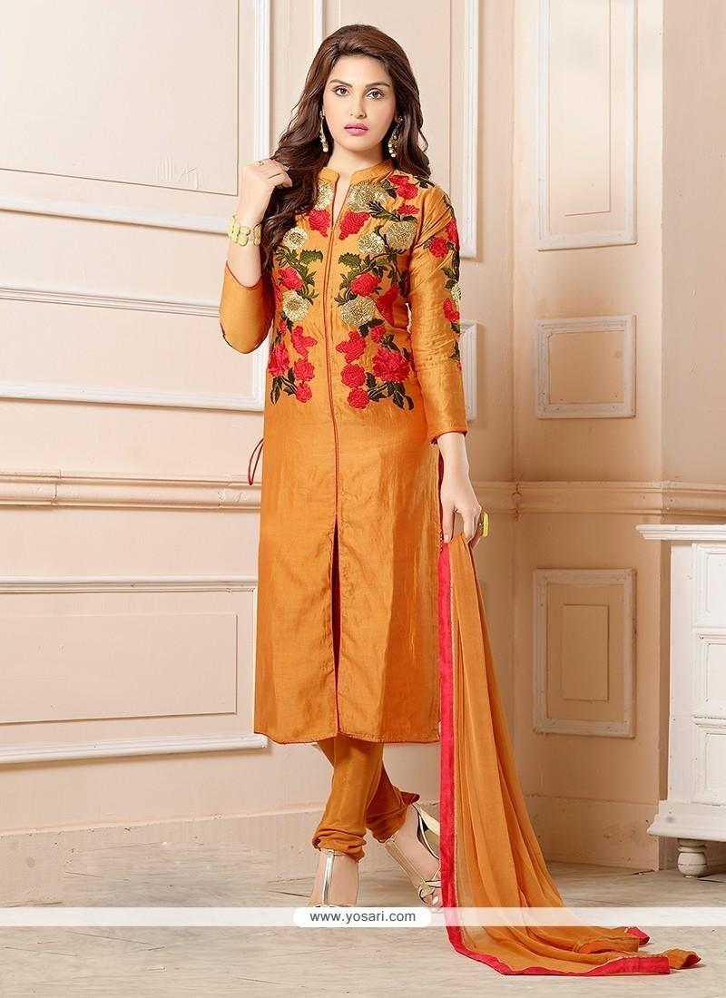 Aristocratic Resham Work Churidar Designer Suit