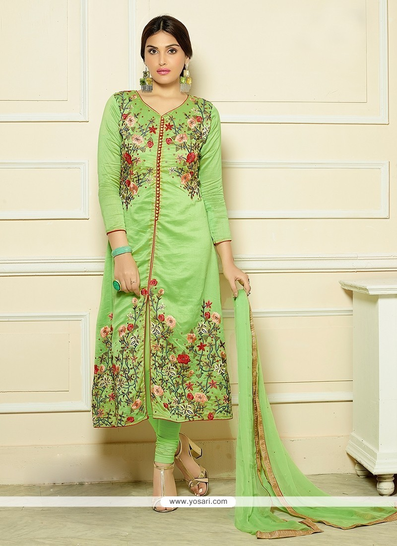 Haute Green Churidar Designer Suit