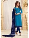 Prodigious Blue Churidar Designer Suit