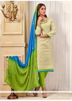 Dignified Jacquard Churidar Designer Suit