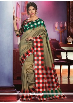 Glorious Beige Art Silk Saree