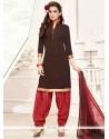 Staring Pure Crepe Print Work Designer Patila Salwar Suit