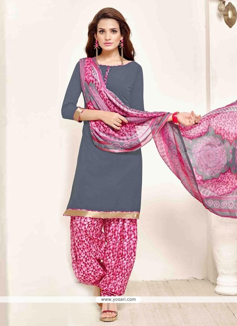 Irresistible Pure Crepe Print Work Designer Patila Salwar Suit