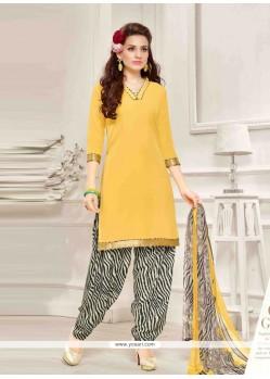 Engrossing Print Work Designer Patila Salwar Suit