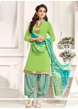 Suave Print Work Designer Patila Salwar Suit