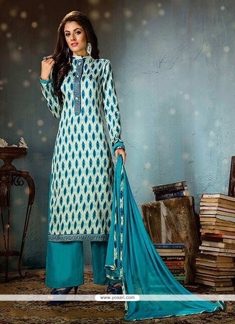 554d7e559d Buy Regal Cotton Print Work Designer Palazzo Salwar Suit   Pakistani ...