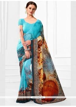 Eye-catchy Multi Colour Printed Saree