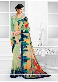 Exquisite Georgette Printed Saree