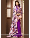 Congenial Print Work Printed Saree