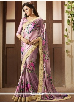 Strange Faux Crepe Multi Colour Print Work Printed Saree