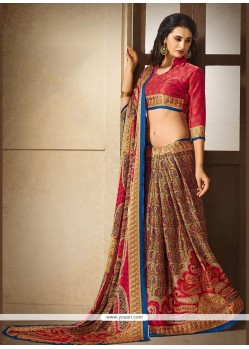 Marvelous Print Work Multi Colour Printed Saree