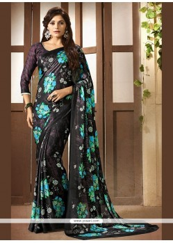 Prepossessing Faux Crepe Multi Colour Printed Saree