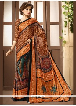 Festal Print Work Printed Saree