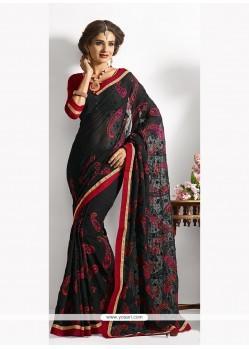 Preferable Patch Border Work Designer Saree