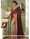 Natural Brown And Beige Georgette Saree