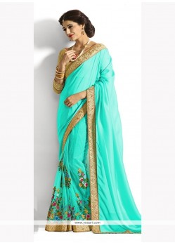 Ethnic Georgette Embroidered Work Designer Saree
