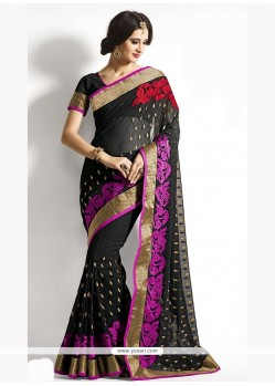 Spellbinding Georgette Embroidered Work Designer Saree