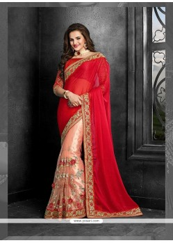 Immaculate Red Classic Designer Saree