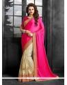 Vivacious Crush Patch Border Work Classic Designer Saree