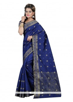 Exotic Navy Blue Trendy Saree
