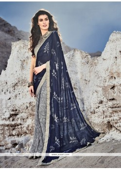 Splendid Print Work Printed Saree